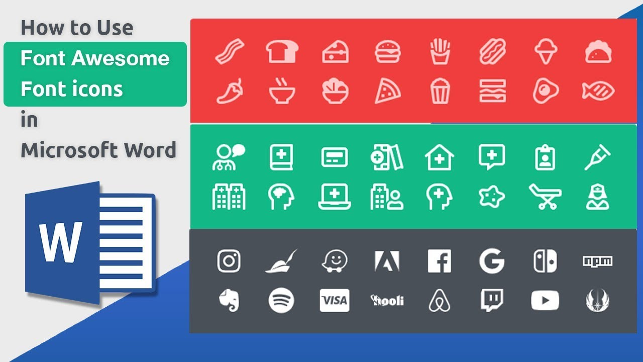 Resume Icons Pack Insert Icons In Microsoft Word 2019 Youtube