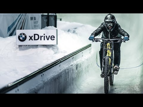 RIDING DOWN THE BMW ICE TRACK ON MY DOWNHILL MTB!