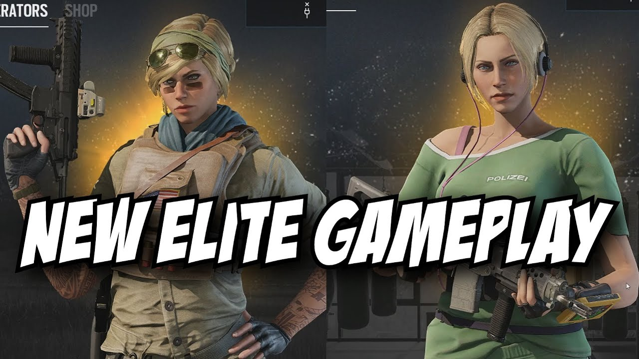 Rainbow Six Siege Valkyrie Elite Gameplay IQ Elite Gameplay MVP Victory  Animation R6 Loadout