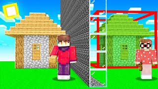 I Secretly Cheated with ONE WAY GLASS in a Minecraft Build Battle...