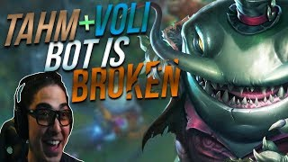 WHEN 2 JUNGLE MAINS GET AUTOFILLED BOT! | TAHM + VOLI BOTLANE .. WORKS?! - Trick2G