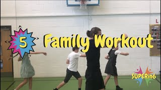 Family Fun Workout ONLY 6 Minutes! SUPERin6