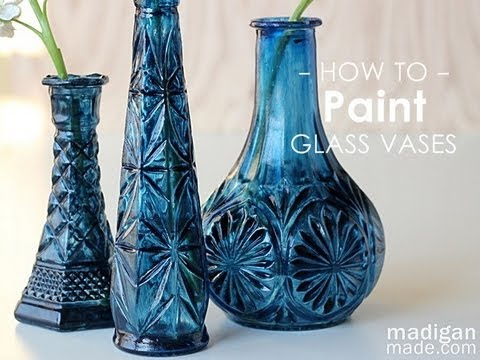 How to paint glass thrift store glass update youtube for How to paint bottles with acrylic