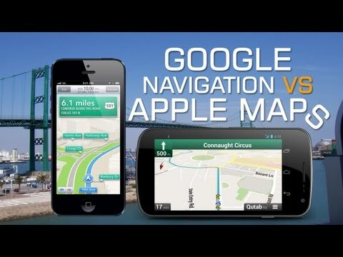 Apple iOS 6 Maps vs Google Navigation