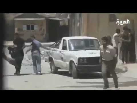 Syria, Homs: AlArabiyah report on the shelling of the town of Talbisah by Assad military air-force