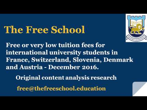 Swiss French Danish Austrian Slovenian Universities : Cheap fees for international students