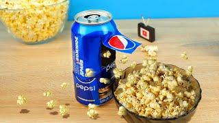 ПОПКОРН МАШИНА! Лайфхаки с попкорном. Как сделать попкорн без микроволновки