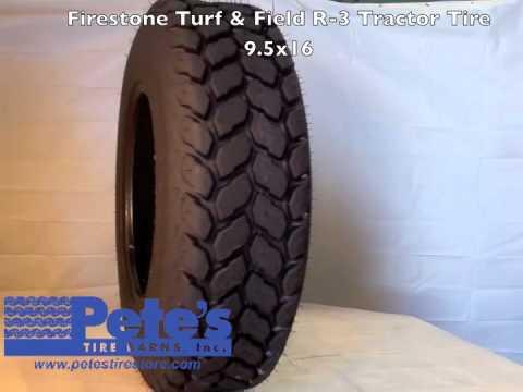 Firestone Turf & Field R-3 Tractor Tire 9.5x16