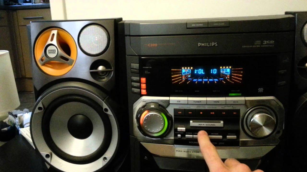Philips C399 Hi Fi Thrift Shop Demo Youtube