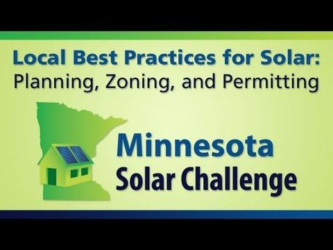 Planning, Zoning & Permitting for Solar Energy Webinar - MN Solar Challenge
