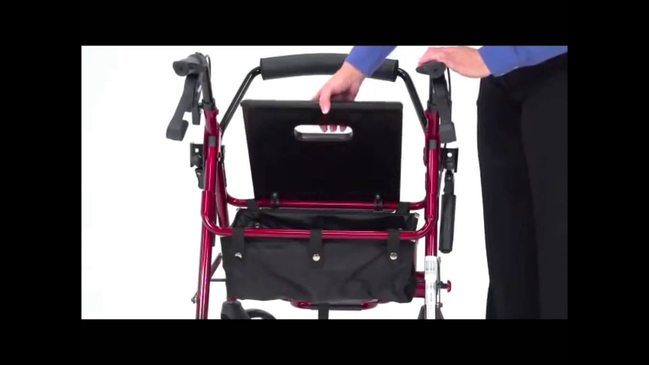 Drive Medical Duet Transport Chair Rollator YouTube – Drive Fly Lite Transport Chair