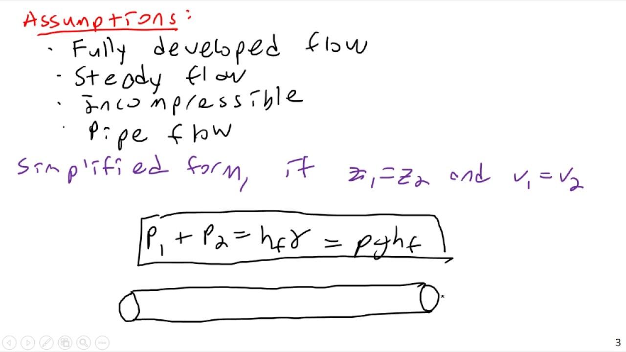 Darcy Weisbach Equation - Fluid Mechanics