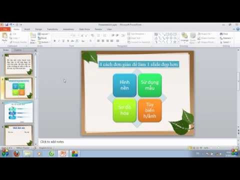 Powerpoint cơ bản: 4 cách làm slide thuyết trình đẹp hơn