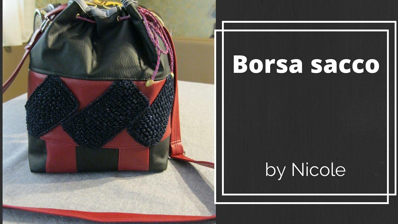 09083bb1e1 Tutorial-Come realizzare una borsa sacco / drawstring bag - YouTube