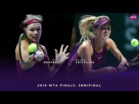 Kiki Bertens vs. Elina Svitolina   2018 WTA Finals Singapore Semifinal   WTA Highlights