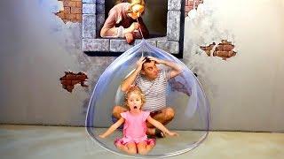 Family fun playtime Milusik and papa