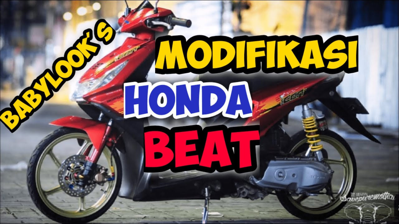 Modifikasi Motor Beat Babylook Semut Modifikasi