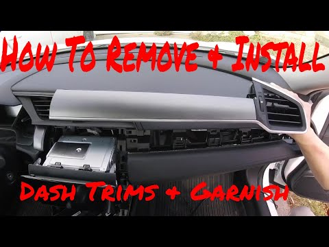 Honda Civic How To Remove/Install Dash Pannels & Trims