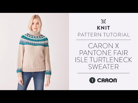 Caron X Pantone Fair Isle Turtleneck Sweater