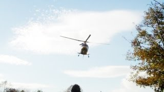 Agusta Westland AW109 Air Ambulance - Takes off From Local School