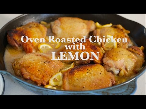 Oven Roasted Chicken Thighs With Lemon