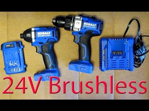 review: kobalt 24v brushless 1/4 impact driver & compact drill kit ...