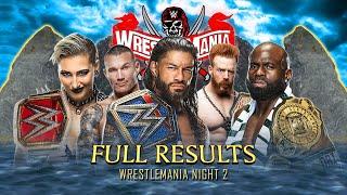Full WWE WrestleMania 37 Night 2 Results