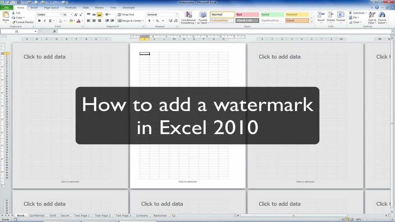 Ediblewildsus  Gorgeous Excel Tip How To Insert A Watermark In Excel   Youtube With Outstanding Excel Drop Down Boxes Besides Subtotal In Excel  Furthermore How To Multiply Percentages In Excel With Amusing Median Excel Formula Also Make Graph Paper In Excel In Addition Excel Formula To Calculate Time Worked And Excel Function Countif As Well As Windows  Excel Additionally Excel Highlight Every Other Line From Youtubecom With Ediblewildsus  Outstanding Excel Tip How To Insert A Watermark In Excel   Youtube With Amusing Excel Drop Down Boxes Besides Subtotal In Excel  Furthermore How To Multiply Percentages In Excel And Gorgeous Median Excel Formula Also Make Graph Paper In Excel In Addition Excel Formula To Calculate Time Worked From Youtubecom