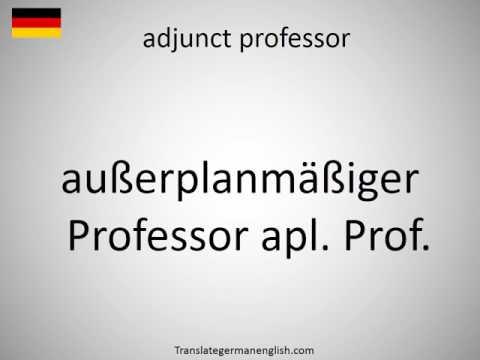 How to say adjunct professor in German?