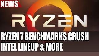 ryzen 7 benchmarks show amd decimate intel s lineup   ryzen 1700 shown running 3400mhz ram