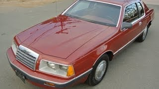 Ford ThunderBird V8 5.0 T-Bird 1 Owner Youngtimer 1986 Elan Cool Classic Car Video 4 Sale