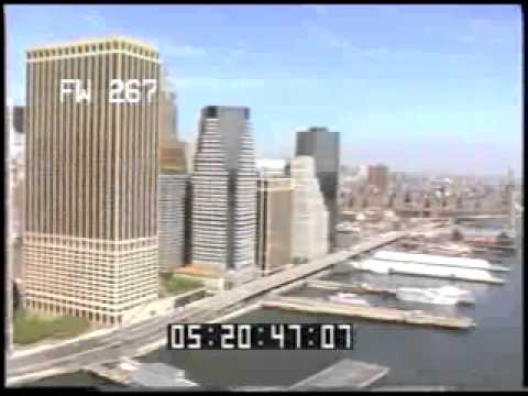NYC Harbor - New York City - Downtown Skyscrapers - Aerial Footage - Best Shot - Stock Footage