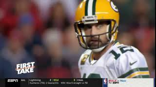 First Take | Stephen A. PREDICTED 49ers win Super Bowl, Aaron Rodger will carry the fate of Packers