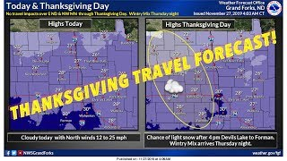 "GF WX Service: Thanksgiving Travel Forecast... As Much As 8"" Snow"