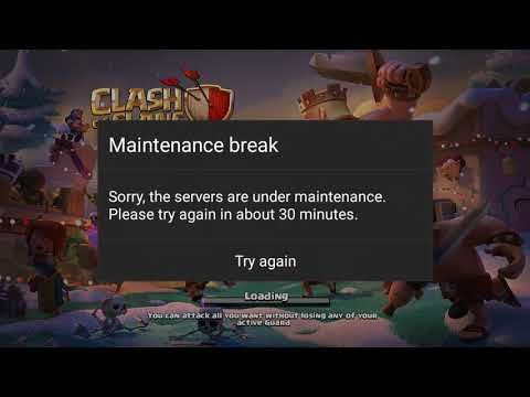 Clash of Clans first maintenance break after Winter Update | Server fixing