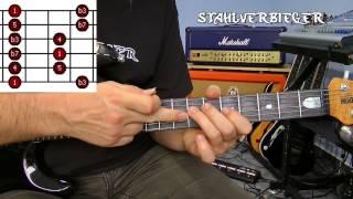 Gitarre lernen - Die Tonleitern - Die Pentatonik - Fingersatz1