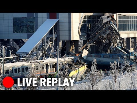 LIVE: Rescuers work to lift trains after collision in Turkey (4 dead)