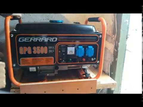 Бензиновый генератор gerrard gpg3500 стабилизатор напряжения 5в на транзисторах