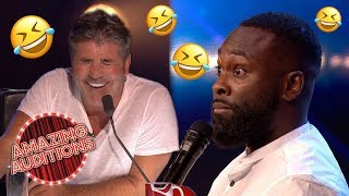 Download FUNNIEST Comedy Auditions That WON The GOLDEN BUZZER | Amazing Auditions Mp3 and Videos