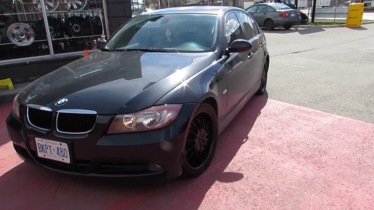 2008 bmw 328i riding on 18 inch custom black rims tires. Black Bedroom Furniture Sets. Home Design Ideas