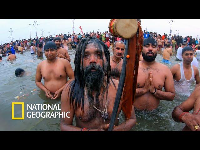 죄를 씻어내는 목욕 의식, 인도 쿰브 멜라 축제