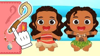 BEBÉS ALEX Y LILY Se transforman en Moana y Maui 🌺 Dibujos animados educativos