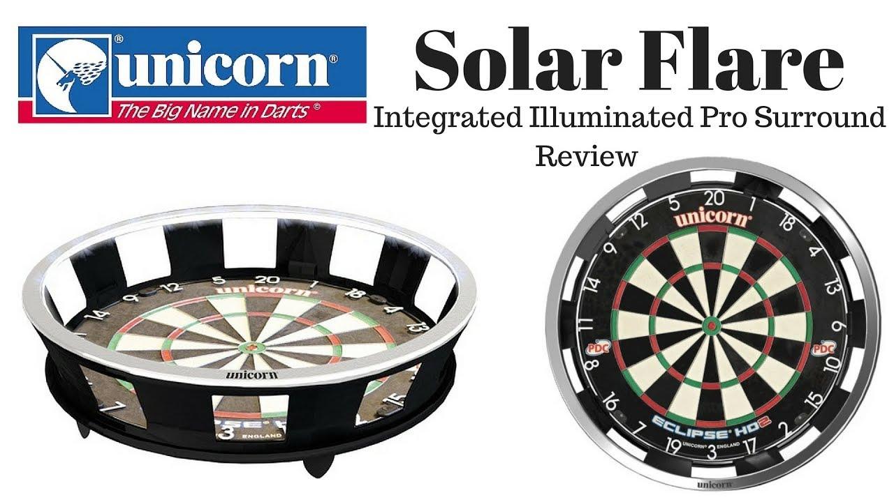 unicorn solar flare dartboard light surround review