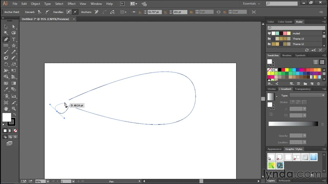 Line Art Using Pen Tool : Drawing simple curves with the pen tool adobe