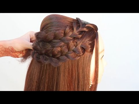 18-open-front-hairstyle-for-wedding-|-easy-hairstyle-|-puff-hairstyle-|-cute-hairstyle-|-hairstyle