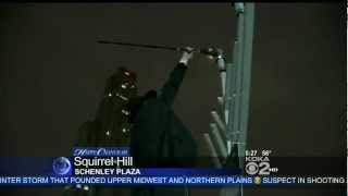 Pittsburgh Car Menorah Parade 2012 - KDKA Morning News @ 5
