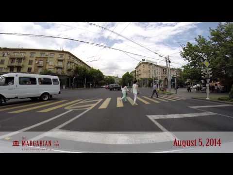 Driving Through the Streets of Yerevan (HD) - Aug 5, 2014