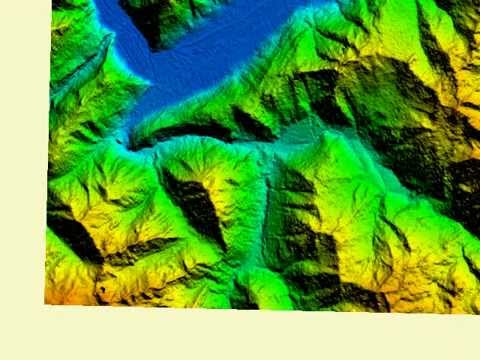 Creating terrain mesh using high-resolution elevation map (SRTM 1 Arc Second or ASTER GLOBAL)