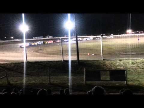 Mike Babcock #83 A feature Late Model win at Riviera Raceway Norfolk Nebraska 7-20-2013