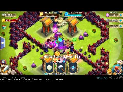 #028 HBM G - No Garrison - TH16 With 40:1 - Castle Clash